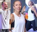 """Chodakowska podskakuje z mężem na """"targach fitness"""" (ZDJĘCIA)"""