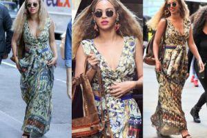 Głęboki dekolt Beyonce w Nowym Jorku (ZDJĘCIA)