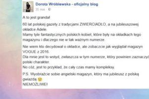 """Dorota Wróblewska krytykuje """"Zwierciadło"""""""
