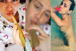 """Miley Cyrus pali """"WIELKIEGO skręta""""! (FOTO)"""
