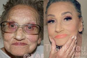 Makijaż odmienił 80-latkę. Hit internetu (FOTO)