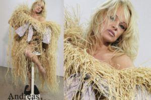 Pamela Anderson pozuje w sukience ze słomy (ZDJĘCIA)
