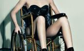 Kylie Jenner na wózku i w lateksie