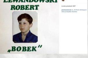 Lewandowski na zdjęciu z dzieciństwa