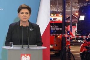 """Szydło: """"Z bólem przyjęliśmy informację, że pierwszą ofiarą haniebnego aktu przemocy w Berlinie był nasz rodak"""""""
