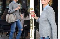 Heidi Klum z torebką Gucci