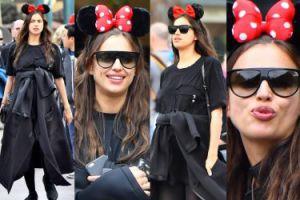 Ciężarna Irina Shayk ZASŁANIA BRZUSZEK w Disneylandzie (ZDJĘCIA)
