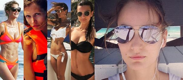 Najpopularniejsze modelki na wakacjach! (ZDJĘCIA)