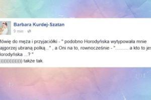 Kurdej-Szatan wyśmiewa Horodyńską