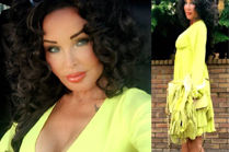 Ewa Minge w żółtej sukience