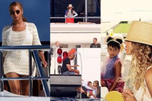 """""""Idealne"""" wakacje Beyonce: luksusowy jacht i kolacje z paparazzi (ZDJĘCIA)"""