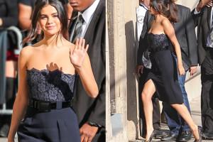 Gomez w obcisłej sukience idzie do programu Kimmela