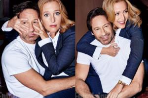 David Duchovny i Gillian Anderson pozują razem (ZDJĘCIA)