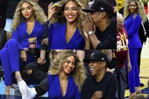 Zakochani Beyonce i Jay-Z na meczu koszykówki (ZDJĘCIA)