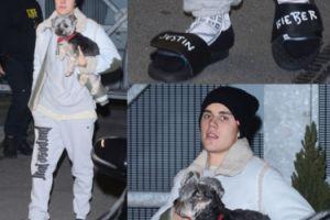 Justin Bieber w klapkach wyjeżdża z Polski (ZDJĘCIA)