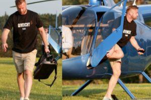Artur Boruc przyleciał do Arłamowa helikopterem (ZDJĘCIA)