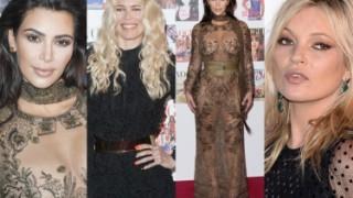 """Kim Kardashian w """"naked dress"""" na imprezie """"Vogue'a""""! (ZDJĘCIA)"""