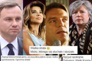 """Gwiazdy, dziennikarze i politycy żegnają Wojciecha Młynarskiego: """"Zawsze pozostanie nieśmiertelny""""..."""