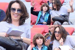 Anna Nowak-Ibisz z synem na Stadionie Narodowym (ZDJĘCIA)