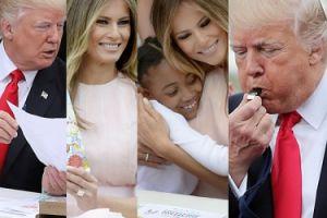 Melania Trump czyta bajki i przytula dzieci (ZDJĘCIA)