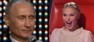 """Putin śpiewa w rosyjskim """"The Voice""""!"""