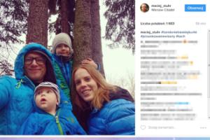 Maciej Stuhr pozuje z rodziną (FOTO)