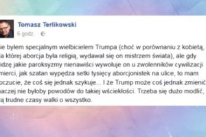 """Terlikowski: """"Szatan wypędza setki tysięcy aborcjonistek na ulice"""""""