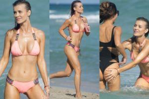 Joanna Krupa na plaży w Miami w ostatni dzień 2016 roku (ZDJĘCIA)
