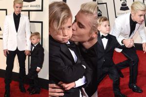 Justin Bieber pokazał brata na gali Grammy! Podobny? (ZDJĘCIA)