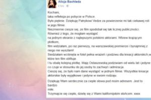 """Bachleda-Curuś: """"Maję Ostaszewską podziwiam od wielu lat"""""""