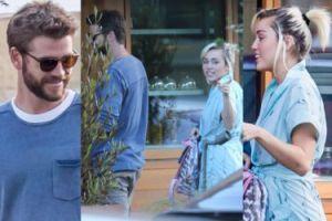 Zakochani Miley i Liam idą na obiad (ZDJĘCIA)
