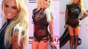 Britney Spears na ściance w czarnych majkach i kabaretkach! (ZDJĘCIA)