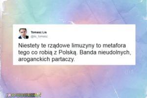 """Lis: """"Rządowe limuzyny to metafora tego co robią z Polską"""""""