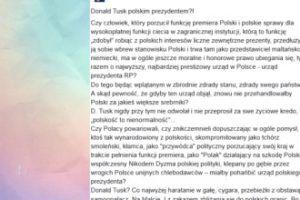 """Pawłowicz atakuje Tuska: """"Co najwyżej haratanie w gałę, cygara i samoopalacz"""""""