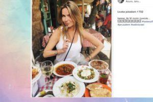 """Hanna Lis pozuje z talerzami: """"W swoim żywiole"""""""
