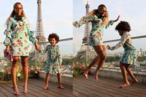 Beyonce z córką w takich samych stylizacjach