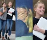 Szczęśliwa Amber Heard po spotkaniu z prawnikami... (ZDJĘCIA)