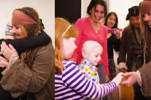 Johnny Depp jako Jack Sparrow odwiedza szpital dla dzieci!
