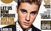 Męski Bieber pozuje dla