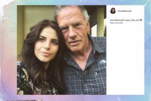 Weronika Rosati pozuje z ojcem