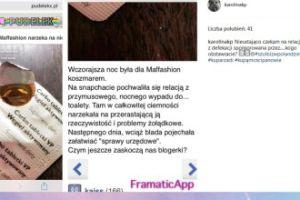 Karolina Korwin Piotrowska o problamach Maffashion