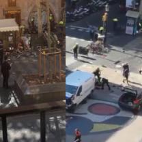 Ofiary i ranni tuż po zamachu w Barcelonie (DRASTYCZNE WIDEO)