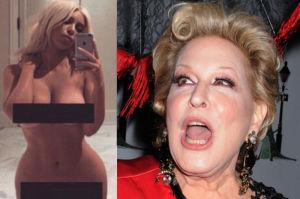 """Bette Midler o zdjęciu nagiej Kim: """"Następnym razem połknie kamerę i pokaże zawartość jelit"""""""