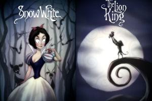 Gdyby Tim Burton stał za filmami Disneya... (GALERIA)