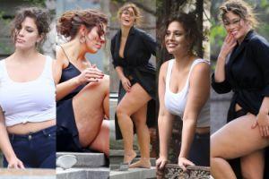"""Ashley Graham wystylizowana na """"seksowną Włoszkę"""" chwali się CELLULITEM! (ZDJĘCIA)"""