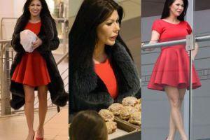 Iwona Węgrowska w króciutkiej sukience kupuje pączki (ZDJĘCIA)