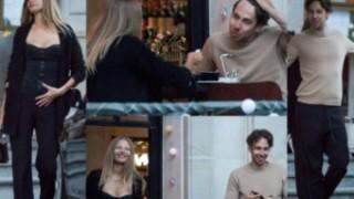 Zadowolona Magdalena Frąckowiak w klapkach za 2500 złotych i Alex Przetakiewicz relaksują się w restauracji (ZDJĘCIA)