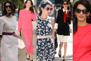 Amal Clooney w Nowym Jorku w stylizacjach za... 188 TYSIĘCY ZŁOTYCH (ZDJĘCIA)