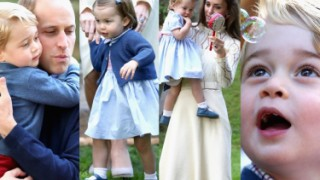 Kate, William, George i Charlotte na przyjęciu dla dzieci w Kanadzie (ZDJĘCIA)