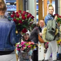 Wiśniewski z dziećmi wita Tajner na lotnisku